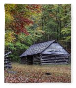 Jim Bales Place Barn Along Roaring Fork Motor Trail Fleece Blanket