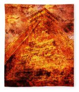 C H I C H E N  .  I T Z A .  Pyramid Fleece Blanket