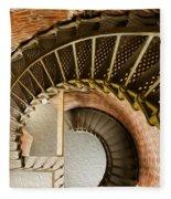 Lighthouse Stairs Cape Blanco Oregon 1 Fleece Blanket