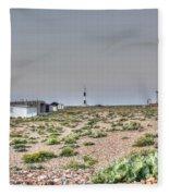 Lights On At The Lighthouse Fleece Blanket