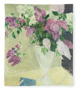 Lilacs Fleece Blanket