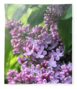 Lilacs On A Misty Morning Fleece Blanket
