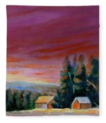 Lovely Sweeping Skies  Fleece Blanket