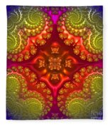 Mandala For Awakening The Creative Energy Fleece Blanket