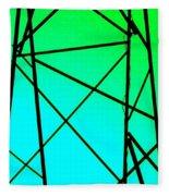 Metal Frame Abstract Fleece Blanket