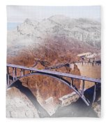 Mike O'callaghan Pat Tillman Memorial Bridge Fleece Blanket