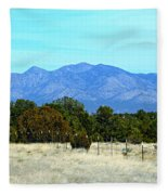 New Mexico Mountains Fleece Blanket