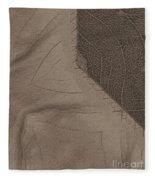 Oak Leaf Abstract Fleece Blanket