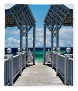 Oceanfront Pavilion Fleece Blanket