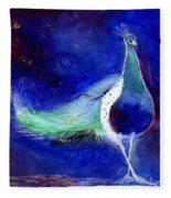 Peacock Blue Fleece Blanket