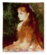 Portrait Of Mademoiselle Irene Cahen D'anvers Fleece Blanket