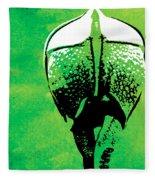 Rhino Animal Decorative Green Poster 6 - By  Diana Van Fleece Blanket