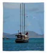 Sailing Virgin Islands Fleece Blanket
