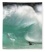Sandy Beach Shorebreak Fleece Blanket
