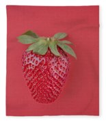 Strawberry In Red I Fleece Blanket