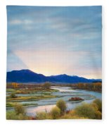 Swan Valley Sunrise Fleece Blanket