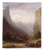Swiss Scene Fleece Blanket