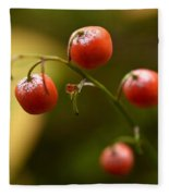 The Berries Of The Lily Of The Valley Fleece Blanket