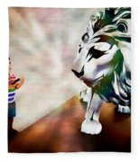 The Boy And The Lion 2 Fleece Blanket
