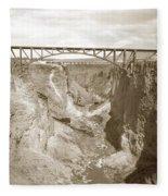 The Crooked River High Bridge Is A Steel Arch Bridge That Spans Oregon Built In 1926  Circa 1929 Fleece Blanket