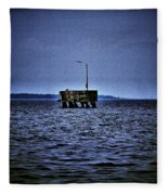The Dock Of Loneliness Fleece Blanket