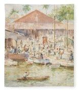 The Market Belize British Honduras Fleece Blanket