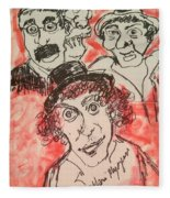 The Marx Brothers Fleece Blanket