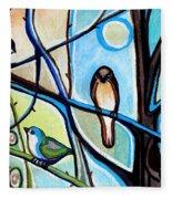 Three Birds Fleece Blanket