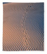 Tracks At First Light In Death Valley Fleece Blanket