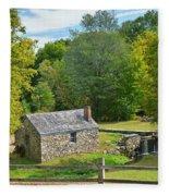 Village Blacksmith Shop Fleece Blanket