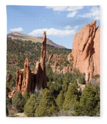 West Garden Of The Gods Fleece Blanket