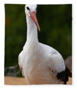 White Stork 4 Fleece Blanket