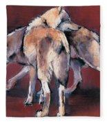 Wolf Composition Fleece Blanket