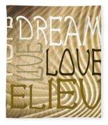 Words Of Love 6 Fleece Blanket