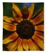 Yellow Sun Flower Fleece Blanket
