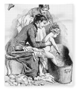 Pears' Soap Ad, 1887 Fleece Blanket
