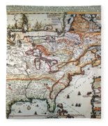 New France, 1719 Fleece Blanket