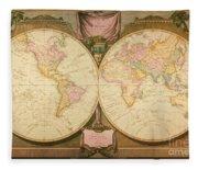 Captain Cook: Map, 1808 Fleece Blanket
