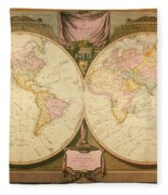 Captain Cook: Map, 1808 Fleece Blanket