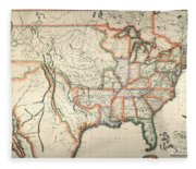 Map: United States, 1820 Fleece Blanket