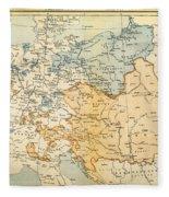 Austrian Empire Map, 1795 Fleece Blanket