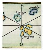 Azores, 1528 Fleece Blanket