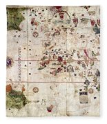 Nina: World Map, 1500 Fleece Blanket