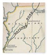 Natchez Trace, 1816 Fleece Blanket