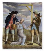 Tarring & Feathering, 1774 Fleece Blanket