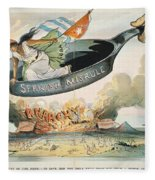 Spanish-american War, 1898 Fleece Blanket