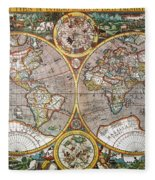 World Map, 1607 Fleece Blanket