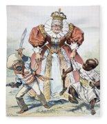 Imperialism Cartoon, 1896 Fleece Blanket