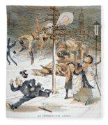 Electricity Cartoon, 1889 Fleece Blanket