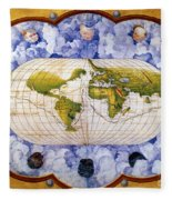 World Map Fleece Blanket